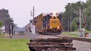 (Double Horn Show From 1st & 2nd Locomotives) CSXT F732-13 Ex GP30 RoadSlug/GP40-2 Notch 8!!!!!!!!!!