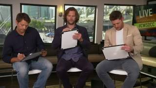 Jared, Jensen, and Misha Q&A at SDCC 2017