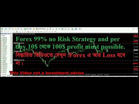 Forex new strategy 99% no risk trade must profit Bangla tutorial part 04