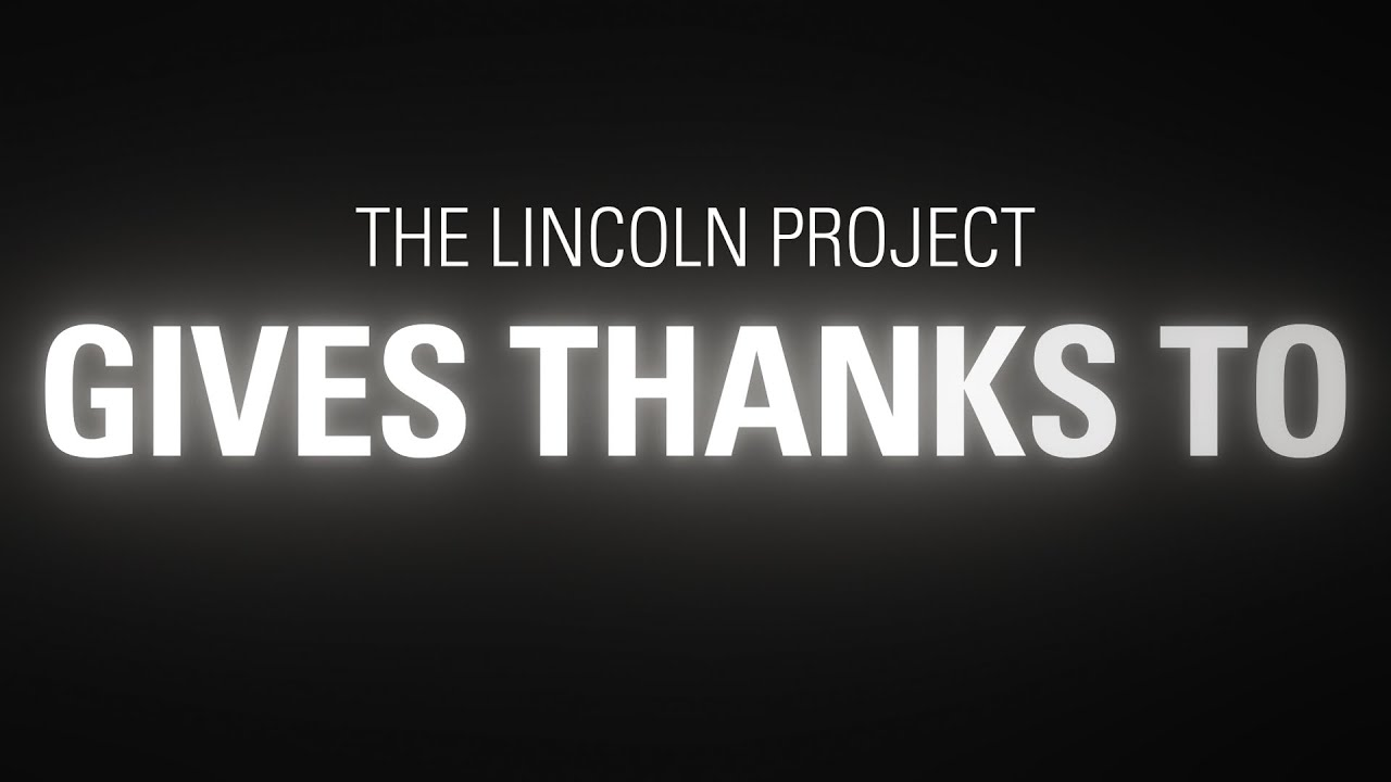 The Lincoln Project Gives Thanks