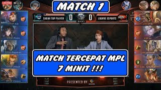 Match Tercepat MPL 7 Minit !! Sabah Top Player vs Louvre MATCH 1 - MPL MY/SG SEASON 4