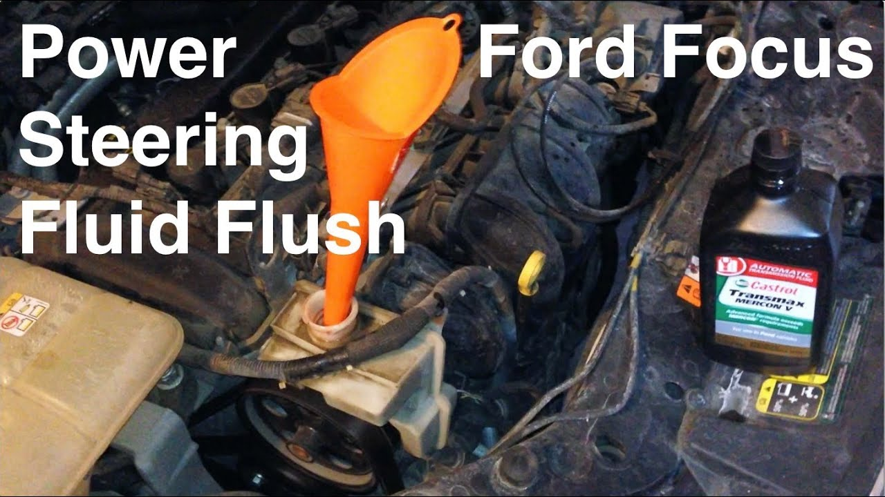 maxresdefault 2000 2016 ford focus power steering fluid flush youtube power steering pump 2007 ford edge diagram at creativeand.co