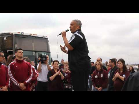 NCAA 2015 NMSU Aggie Basketball Team Send Off