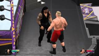 WWE 2K15 PC Low Settings | Roman Reigns vs Brock Lesnar