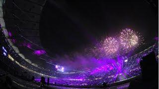 بالفيديو- ألعاب نارية وفقرة غنائية في افتتاح ملعب جابر بحضور أمير الكويت