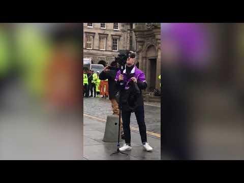 Vin Diesel Sings 'Oh Flowers Of Scotland' With Film Fans