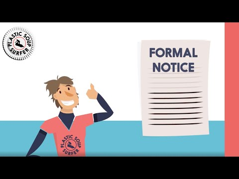 What is a formal notice? - This is why they cant ignore us!