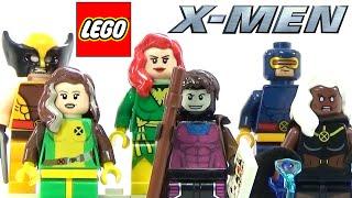 LEGO Marvel X-Men Collection + Custom Rogue & Gambit Minifigures