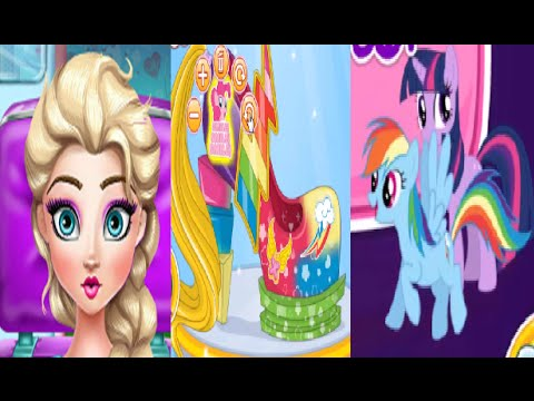 Frozen Girls Games my litttle pony and elsa shoes design style fashion compilation Disney Kids