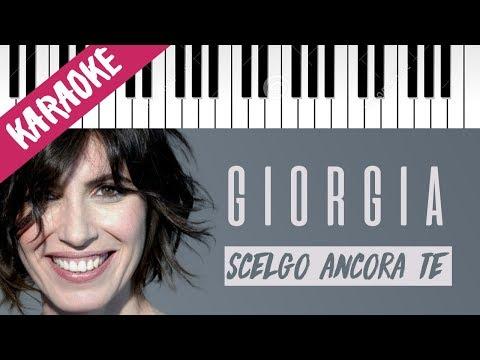 Giorgia | Scelgo Ancora Te // Piano Karaoke con Testo