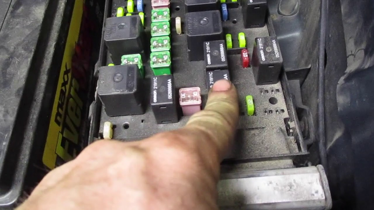 fuse box relay location dodge caravan minivan 2001 2002 2003 2004 2005 2006  2007 3.3l 3.8l grand - youtube  youtube