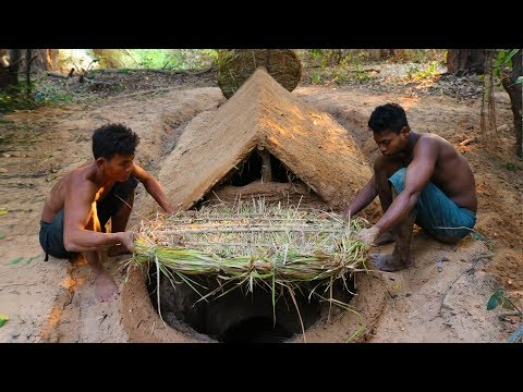 Build Underground House and Make Door to Protect Water