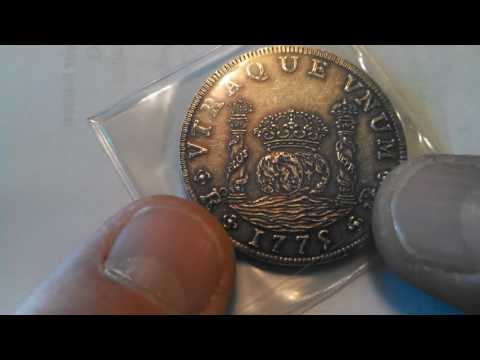 .999 Silver Antiqued Replica Spanish Pillar Dollar