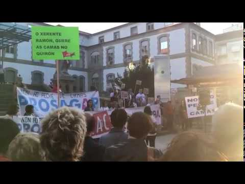 Protesta en Pontevedra contra el cierre de camas
