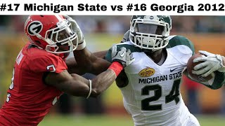 Triple Overtime in Tampa! (Michigan State vs Georgia 2012)   CFB Throwback Highlights