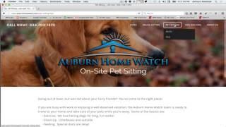 Home & Pet Sitter Website Review