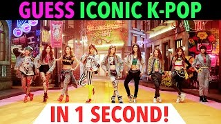 Video GUESS ICONIC K-POP IN 1 SECOND - CHALLENGE #2 download MP3, 3GP, MP4, WEBM, AVI, FLV Mei 2018