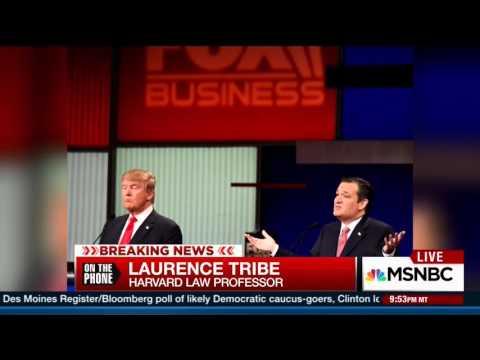 Hardball Post GOP debate Lawrence Tribe on AMG suit standing 1.14.16