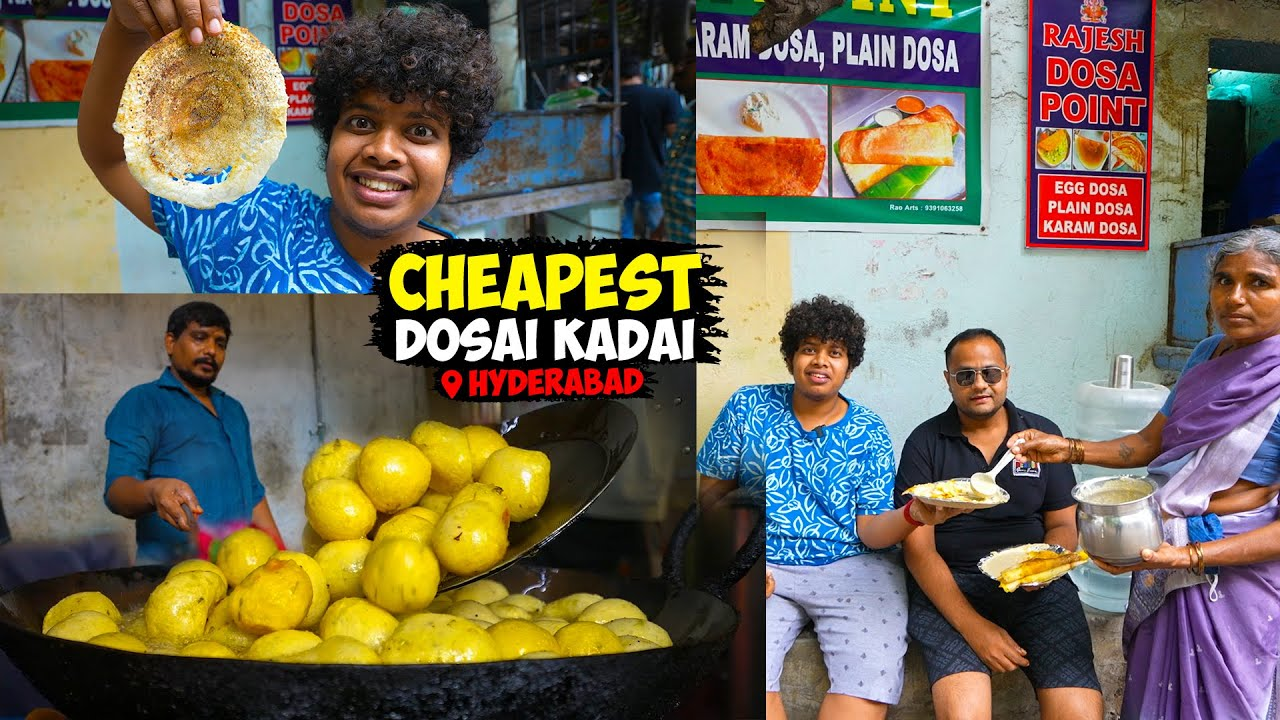 ₹15 Egg Dosa, Karam Dosa and Ghee Dosa - Mysore Bonda - Street Food, Hyderabad - Irfan's View