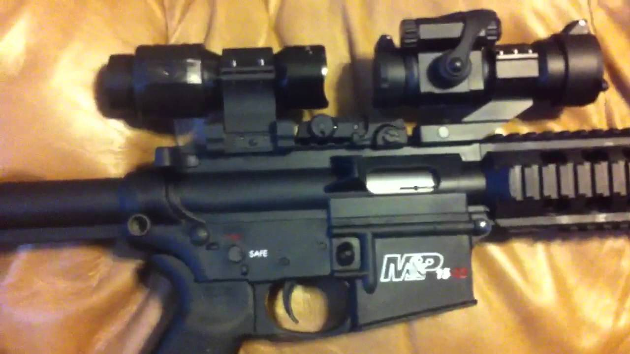 S Amp W M Amp P 15 22 Tactical Red Dot Amp 3x Magnifier Youtube