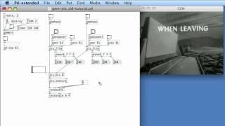 PURE DATA: 28 Simple Video Manipulation in GEM