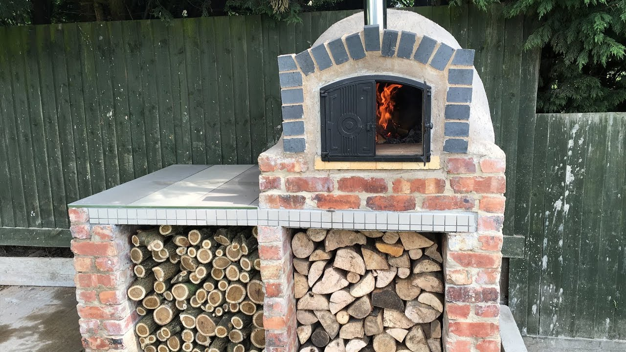 Homemade Diy Pizza Oven Construction Youtube