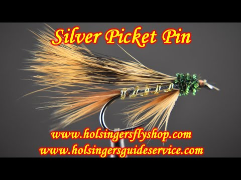 Silver Picket Pin, Holsinger's Fly Shop
