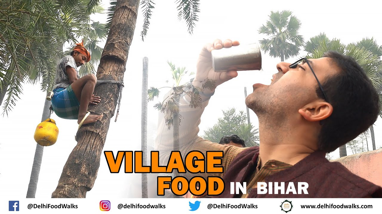 VILLAGE Food in BIHAR- A PERFECT day Cooking, Eating, Drinking, Walking with locals in Vill Parsauna