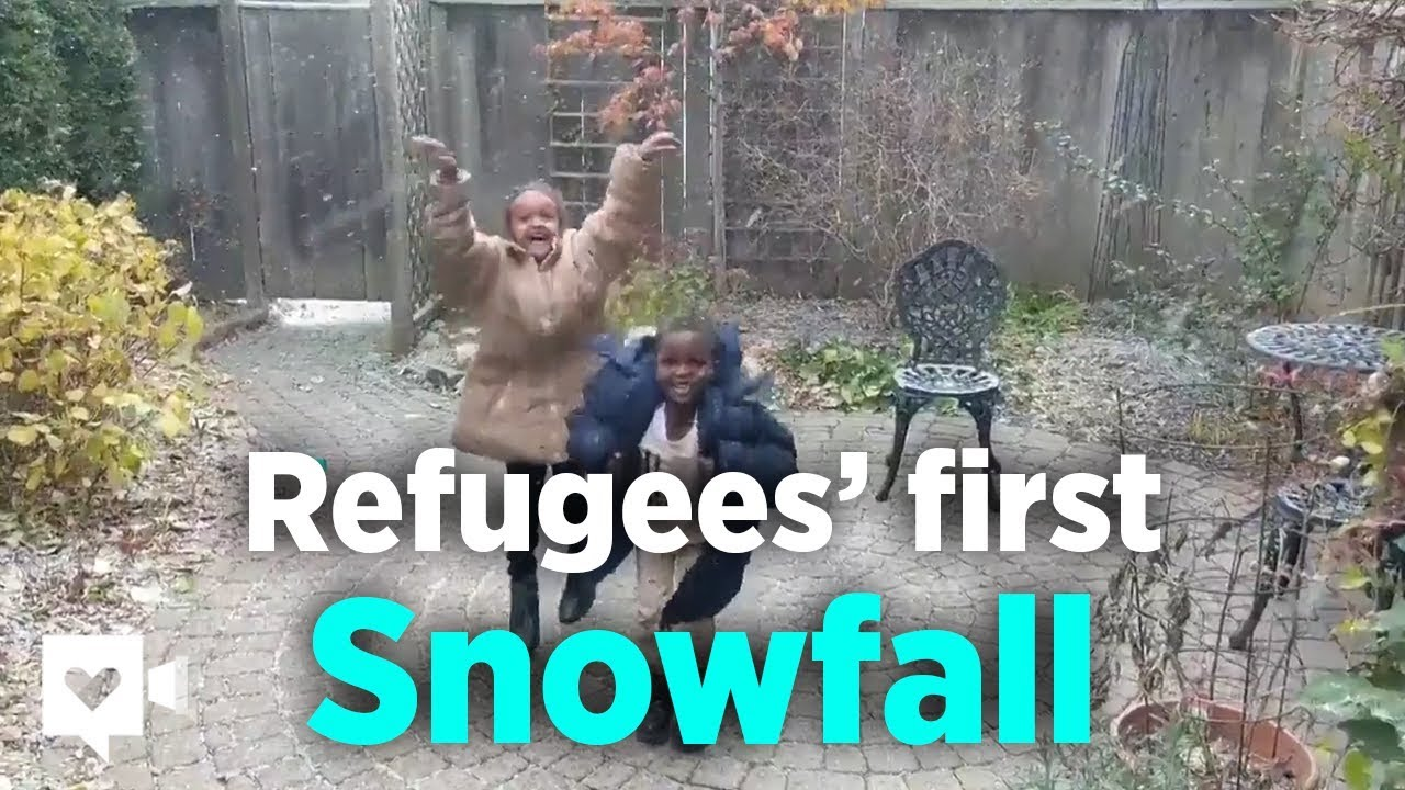 Kids have purest reaction to snow