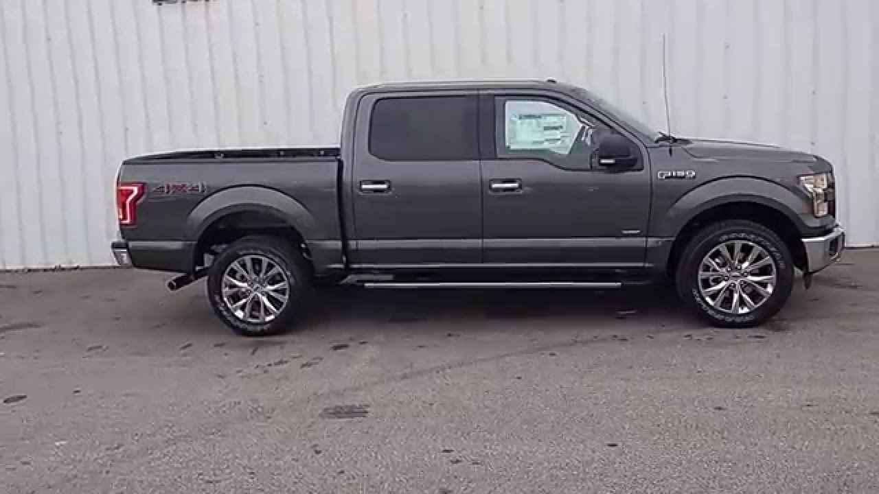 Magnetic Gray 2015 F 150 Supercrew 4x4 Xlt Ecoboost Short Bed T5844