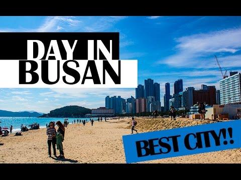 [ENG CC] BUSAN VLOG 2: BEACH, SHINSEGAE, FOUNTAIN, MOTEL | Tesstal in Korea