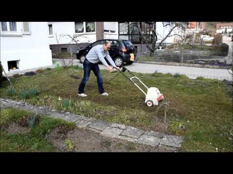 Rasen auf einfache Art neu anlegen, mit einem Vertikutierer