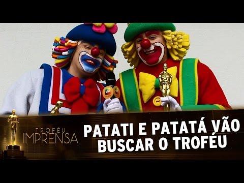 Troféu Imprensa 2017 - Patati e Patatá agradecem prêmio nos bastidores