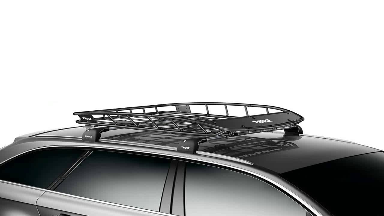 Thule 692 Roof Rack Mount Cargo Basket Net - YouTube