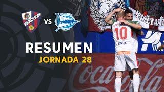 Resumen de SD Huesca vs Deportivo Alavés (1-3)