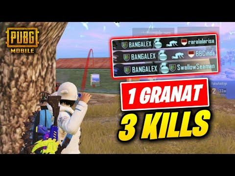 skill-or-luck-1-granat-dapet-3-kills-??---pubg-mobile