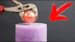 1000 Grad heiße Kugel Vs Kerze 😂😎😎 Was passier wenn man die Kugel drauf legt ?