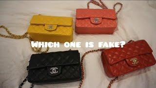 Chanel rectangular mini Authentic vs Replica