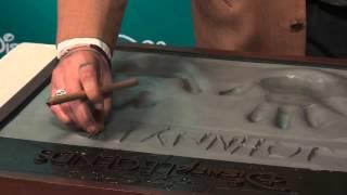 Actor Johnny Depp makes his Disney Legend plaque