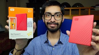 WD Western Digital My Passport Hard Disk Drive 2TB Unboxing and First Impressions Review- Speed Test