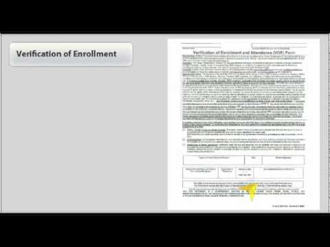Texas Verification Of Enrollment Form - YouTube