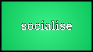 Socialise Meaning