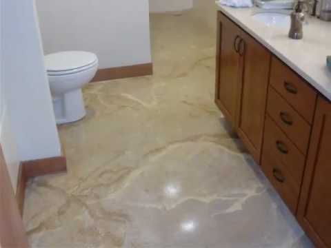 Paint bathroom shower tiles - Concrete Bathroom Floor Remodel Youtube