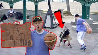 Steal The Ball, Win $100 At Venice Beach!