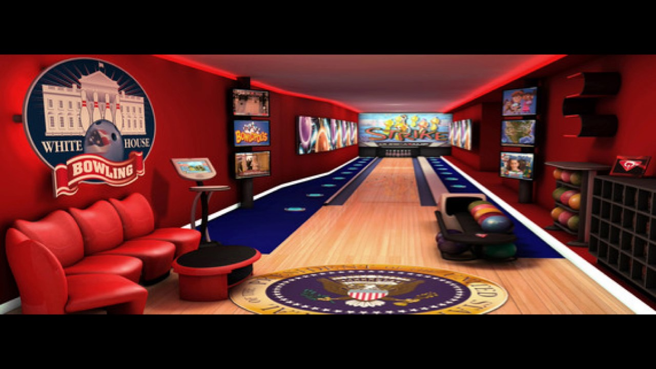 Bowling In The White House Basement Youtube