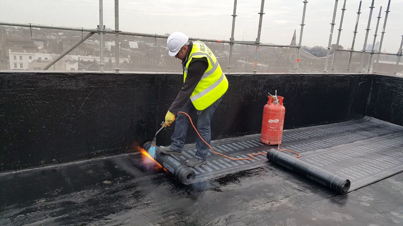 Hot Work Waterproofing Hot Melt And Felt Youtube