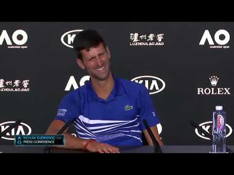 Novak Djokovic's joke to Italian Journalist in his Press Conference| After winning his 7th #AusOpen