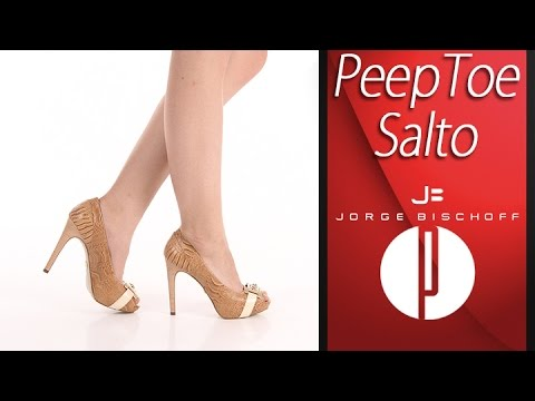 434f652788 Peep Toe Salto Feminino Jorge Bischoff - 6091402941 - YouTube