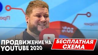 Бесплатная схема продвижения канала.  Продвижение на Youtube 2020.  Оптимизация ролика.