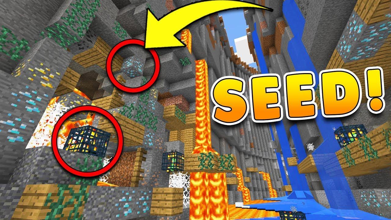 Best Ravine Seed In Minecraft 12 W Mineshafts At Spawn Pocket Edition Xbox Ps34 Pc